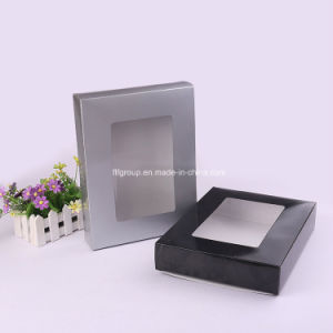 Customized Rectangle Paper Fashionable Black Color Shoe Box pictures & photos