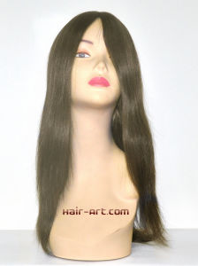 "100% Human Hair Top Hand Injected Sheitels Kosher Wigs-20"" pictures & photos"