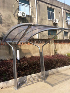 Powder Coating High Quality Bicycle Shed with Racks pictures & photos
