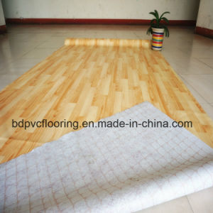 48kg Plastic Vinyl Flooring with Red Felt Backing 70g pictures & photos