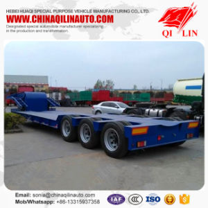 Tri Axles Gooseneck 13meters Excavator Low Bed Semi Trailer pictures & photos