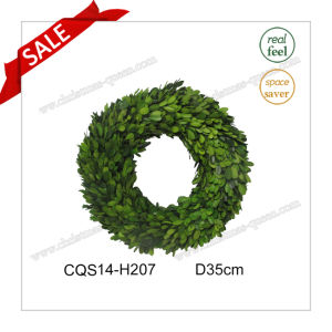 D35cm Everyday Decoration Party Decoration Preserved Boxwood Wreath Decoration pictures & photos