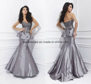 Two Pieces Ladies Party Dresses Taffeta Mermaid Evening Formal Gowns Z1015 pictures & photos