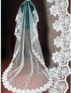Lacework Lace Bridal Veils (V-001) pictures & photos