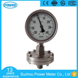 Full Stainless Steel Construction Thread Type Diaphragm Seal Pressure Gauge pictures & photos