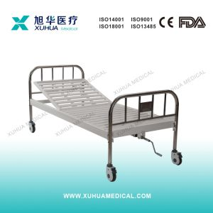 Stainless Steel Head Panels Single Crank Manual Hospital Bed pictures & photos