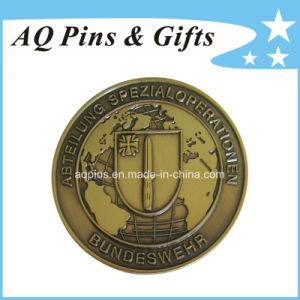 High Quality Challenge Coin with Antique Gold Plating (coin-088) pictures & photos