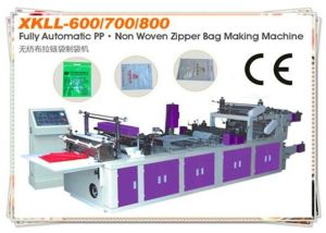 High Speed PP Non Woven Zipper Bag Making Machine W pictures & photos