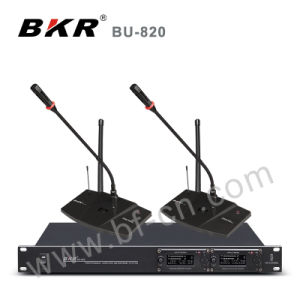 Two Channel UHF Pll Wireless Conference System pictures & photos