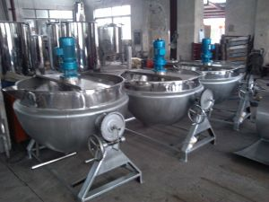 Food Sanitary Stainless Steel Tilting Type Steam Cooking Pot pictures & photos