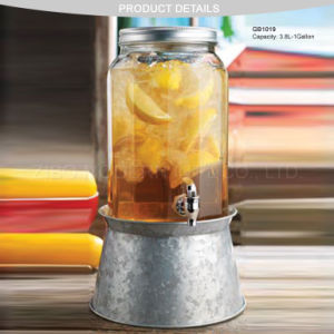 Wholesale 1gallon Cold Beverage Dispenser Glass with Ice Bucket pictures & photos
