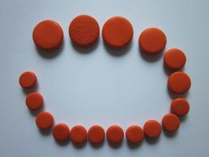 Orange-Red Leather Clarinet Pads