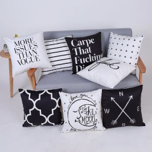 Digital Print Decorative Cushion/Pillow with Geometric Pattern (MX-99) pictures & photos