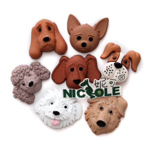 F0592 Multi Cavities Different Cartoon Animal Shape Dog Face Silicone Chocolate Fondant Molds