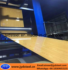 Wooden PPGI Steel Coil with Film Surface pictures & photos