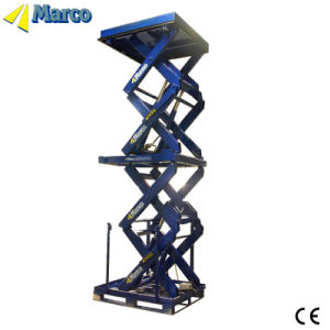 5-6 Ton Marco High Scissor Lift Table with CE Approved pictures & photos