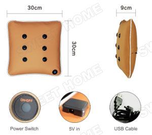 Electric Car Battery Operated Body Care Vibrating Back Massage Cushion pictures & photos