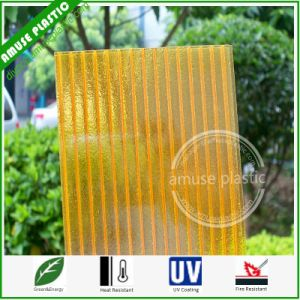 Colored Makrolon Polycarbonate Hollow Lighting Sheet Plastic PC Roofing Sheet pictures & photos