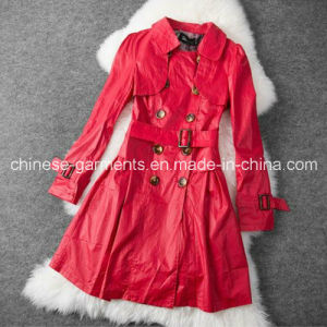 Wholesale Fashion Korean Style Double Breasted Women Coat, Trench Coat