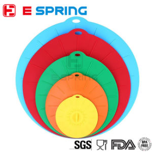 Multi-Purposed Kitchen Gadget 4 PC Silicone Lids for Bowl Silicone Pot Cover pictures & photos