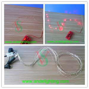 10m Silver Copper Wire Batteries Operated LED Micro String Light pictures & photos