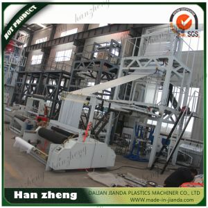 HDPE/LDPE 3 Layer Co-Extrusion ABA Film Blowing Process Machine Sjm 55-1600 pictures & photos