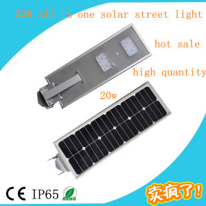 Hot Sale 20W Integrated Solar Street Light, Motion Sensor LED Street Light pictures & photos