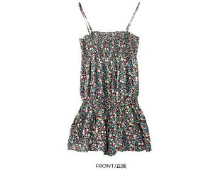 Women Sexy Clothing Fashion Flower Print Shorts Ladies Jumpsuit pictures & photos