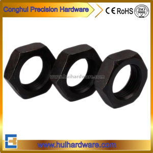 DIN439 Carbon Steel Thin Hex Nuts Black M3-M20 pictures & photos
