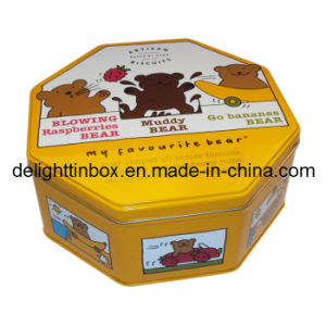 Octagonal Cookies Tin/Metal Can/Box (DL-OT-0339)