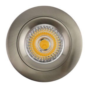 Die Cast Aluminum GU10 MR16 G5.3 Satin Nickel White Round Fixed Recessed LED Light (LT1104) pictures & photos