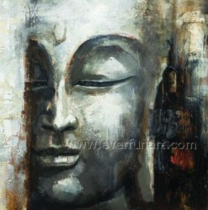 Oil on Canvas Handmade Buddha Wall Decor (BU-022) pictures & photos