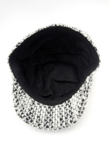 Winter Knitted Black and White IVY Cap (YS002) pictures & photos
