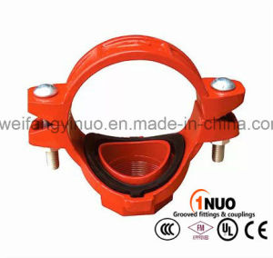 FM/UL Listed Ductile Iron U-Bolt Mechanical Tee for Fire Sprinkler Systems pictures & photos