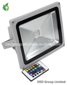 IP65 90lm/W 3 Years Warranty 30W RGB LED Floodlight with 85-265VAC pictures & photos