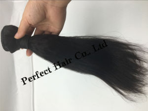Premium Too Heavy Remy Soft Yaki Human Hair pictures & photos