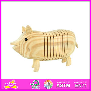 2014 New Kids Popualr DIY Wooden Children Hot Sale Educational Baby Paint Pig Toy W03A028 pictures & photos