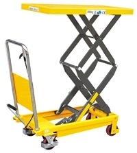 350kg Hydraulic Scissor Hand Lift Tables pictures & photos