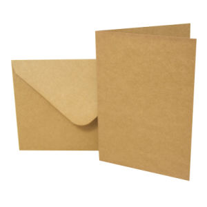 "Blank Greeting Card, 5 X7"", Kraft 10pk pictures & photos"