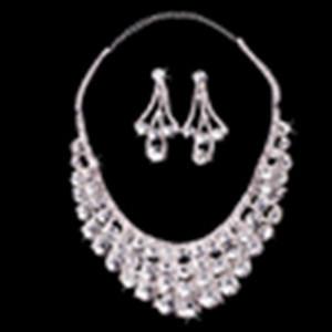 Wedding Bridal Rhineston White Bride Necklace Zsv014