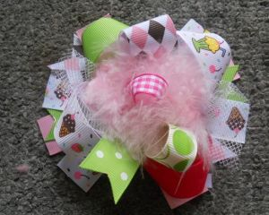 Cupcake Hair Bows for Girl