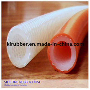 Food Grade Platinum Cured Transparent Polyester Braided Silicone Tube pictures & photos