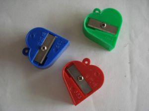 Heart Shape Plastic Sharpener pictures & photos