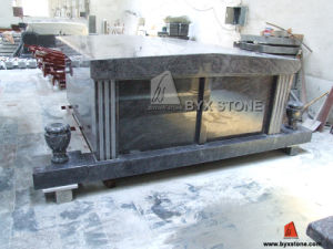 Bahama Blue Two Crypt Side by Side Granite Mausoleum pictures & photos