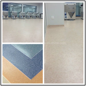 Customized Healthy Environmen Marble Commercial Waterproof Plastic Flooring pictures & photos