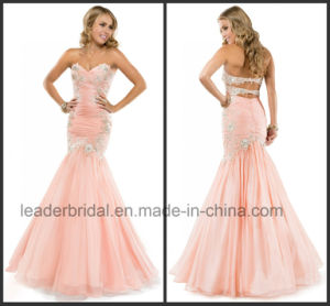 Pink Chiffon Bridesmaid Formal Gown Fashion Vestidos Party Prom Evening Dress Ld11552 pictures & photos