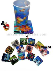 Custom Made Lenticular 3D Cup Mat pictures & photos