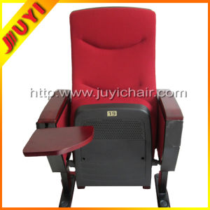 Jy-618 Room Used Modern Cover Fabric with Writing Tablet Folding Theater Chairs Interlocking Church Chair Theater Seats pictures & photos