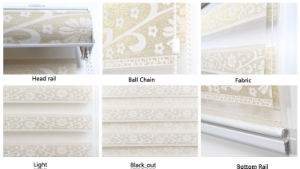 Manual Patterned Roller Shade Zebra Window Blinds Combi Blinds pictures & photos