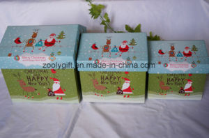 House -Shaped Christmas Paper Gift Storage Boxes Set pictures & photos